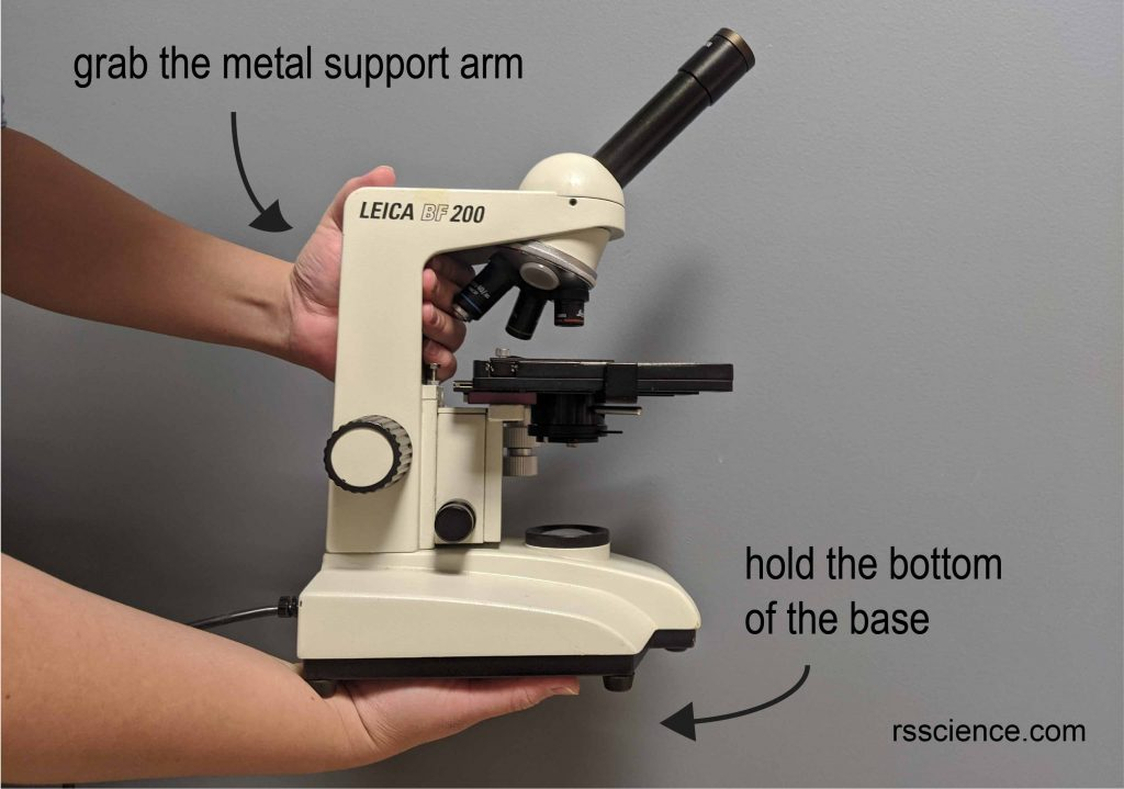 hold-microscope-with-both-hands