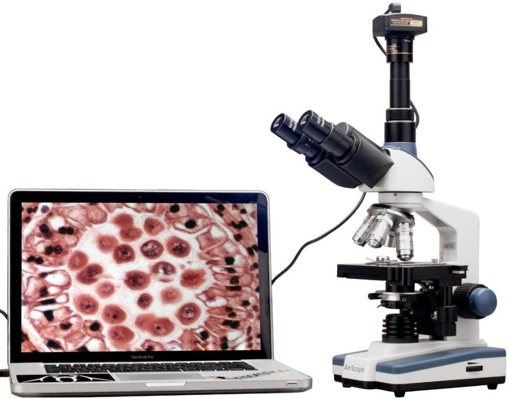 trinocular-microscope-with-a-CCD-camera