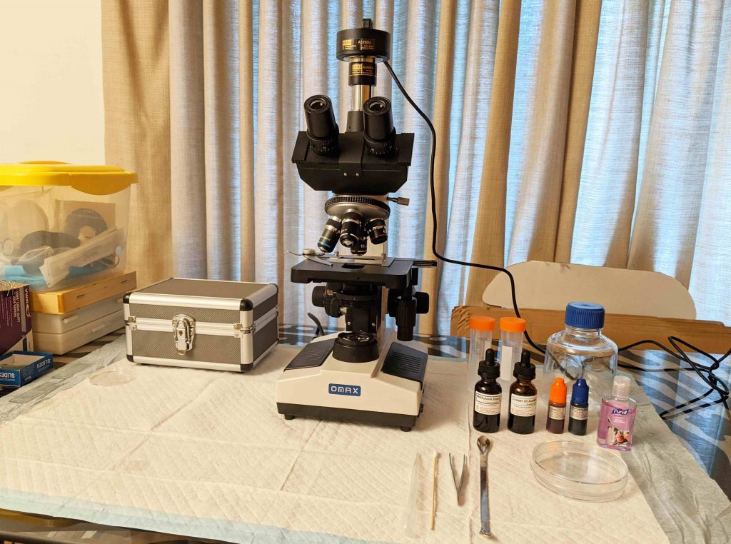 Rs science microscope setup