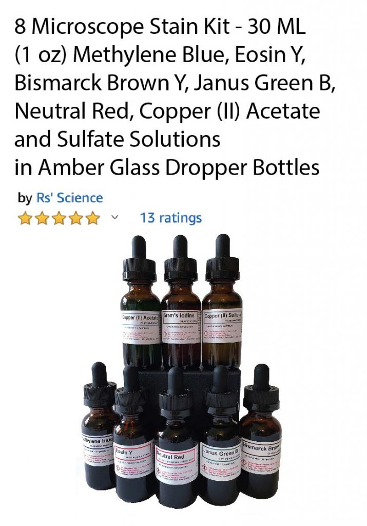 8 microscope stain kit