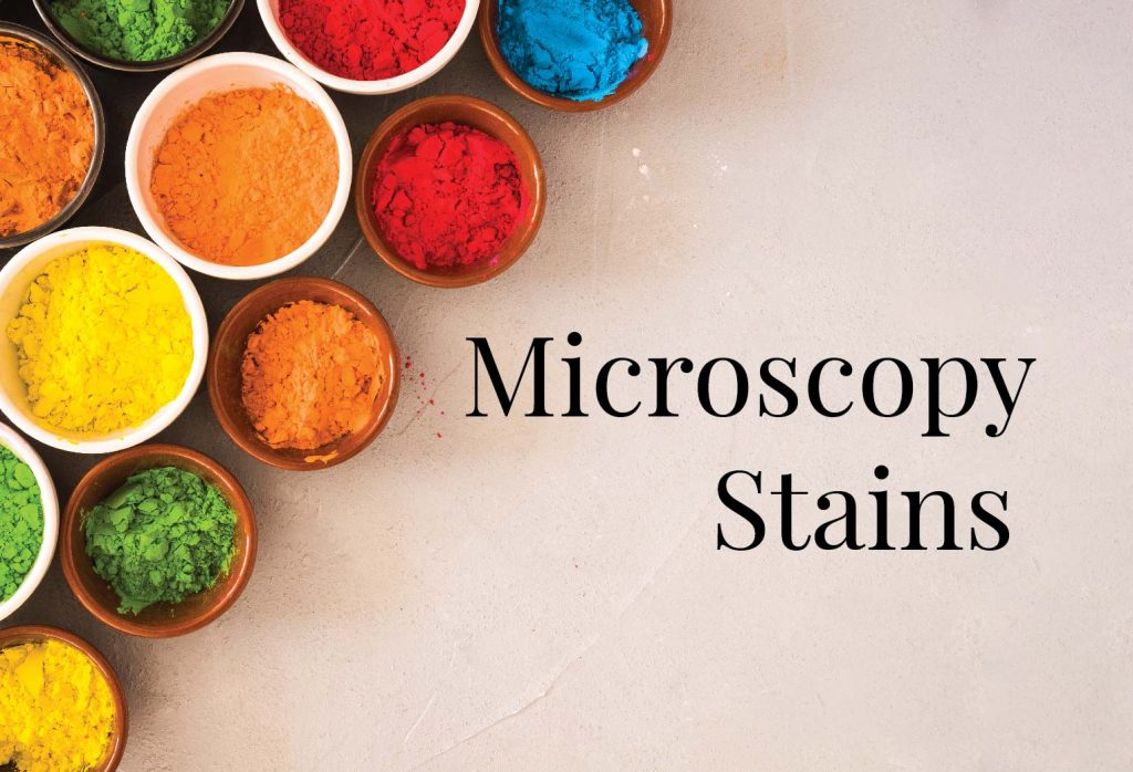 Microscopy stains cover