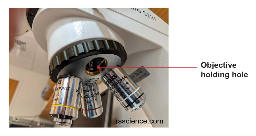 microscope-objective-holding