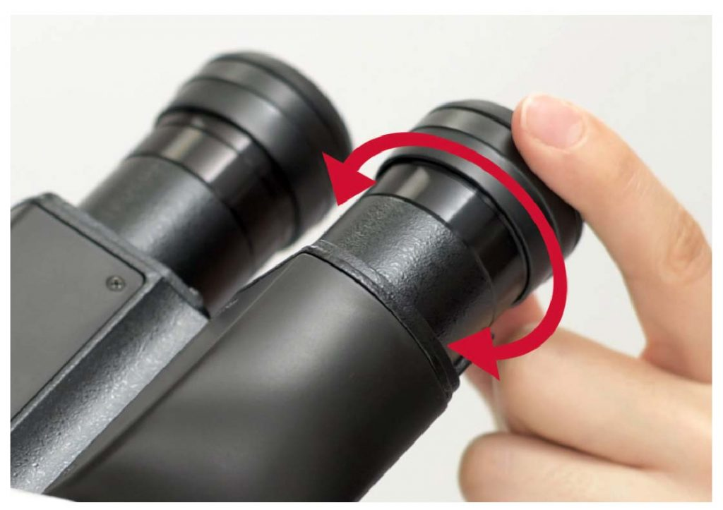 stereo-microscope-Diopter-adjustment-ring