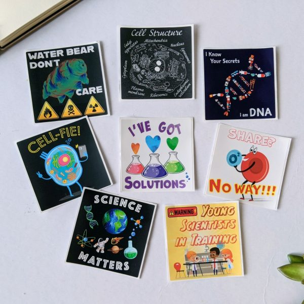 science puns sticker rectangle1